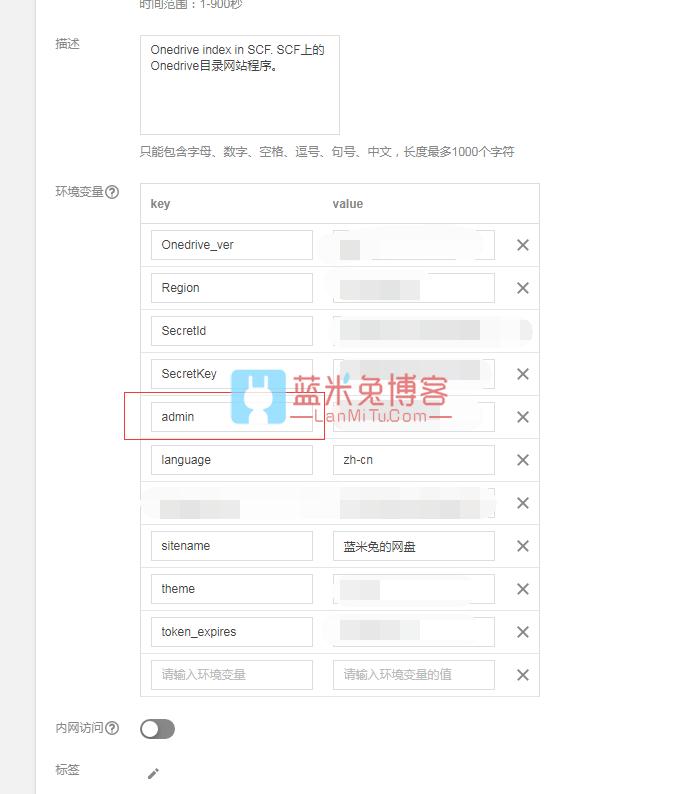 图片[9]-利用腾讯云SCF云函数无服务器0成本部署OneDrive个人网盘-蓝米兔博客