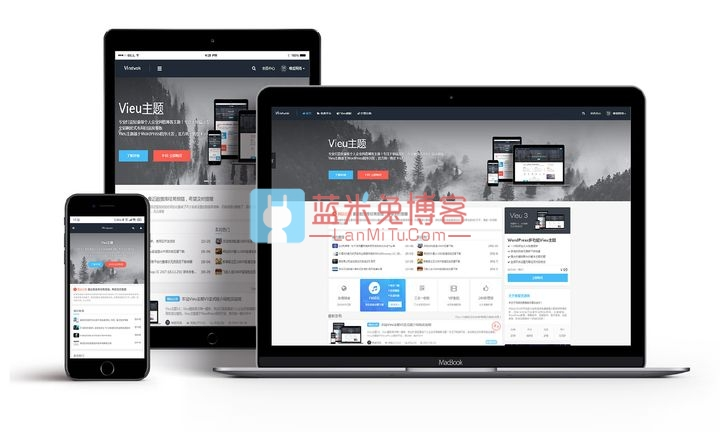 图片[1]-WordPress主题 轻量级个人企业风格博客主题 唯爱Vieu v4.5去授权无限制版-蓝米兔博客